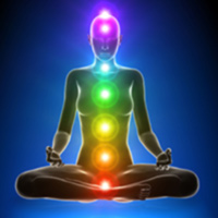 Image of meditation showing Chakras